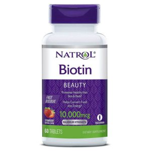 Biotina 10,000 mcg Fast Dissolve - Natrol - 60 Comprimidos