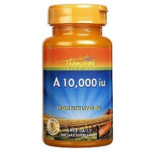 Vitamina A 10,000iu - 30 Cápsulas - Thompson - mais Óleo de Peixe