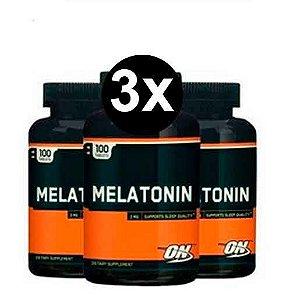 3X Melatonina 3mg Optimum Nutrition  - 100 comprimidos