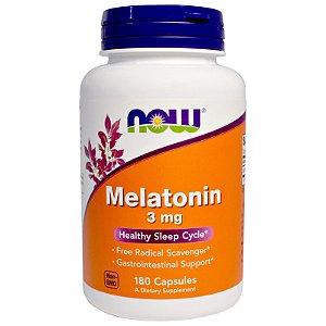 Melatonina, 3mg - Now Foods - 180 cápsulas