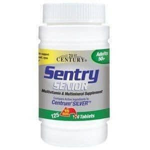 Multivitamínicos Sentry SENIOR (50+) , 125 Tabletes , 21st Century