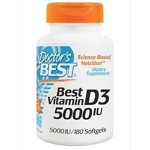 Vitamina D3, 5,000 IU - 180 Cápsulas - DOCTOR'S BEST