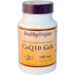 CoQ10 (Coenzima Q10) 100 mg  - Healthy Origins - 10 Cápsulas