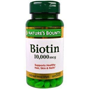 Biotina 10,000 mcg, Nature's Bounty, 120 Softgels