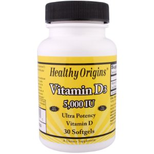 Vitamina D3, 5.000 IU, 30 Softgels - Healthy Origins