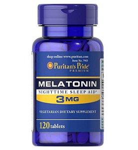 Melatonina 3 mg - Puritan's Pride - 120 Comprimidos