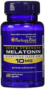 Melatonina 10mg (Rápida Liberação)- Puritan's Pride - 60 Cápsulas
