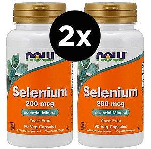 2X Selênio Now Foods - 200 mcg - 90 Vcaps