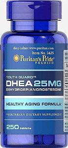 DHEA, 25MG, PURITAN'S PRIDE, 250 COMPRIMIDOS