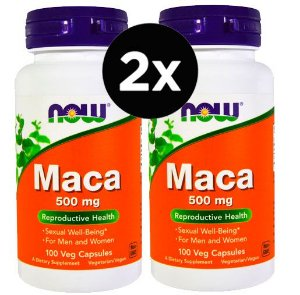 2X MACA - 500MG - 100 CÁPSULAS - NOW FOODS