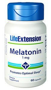 Melatonina Life Extension 1mg, 60 capsulas