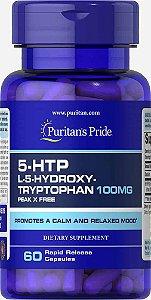5-HTP, Puritans Pride 100mg (Griffonia Simplicifolia) 60 Capsulas