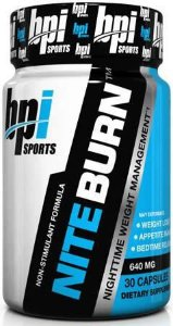NITE BURN - BPI Sports (30 cápsulas)