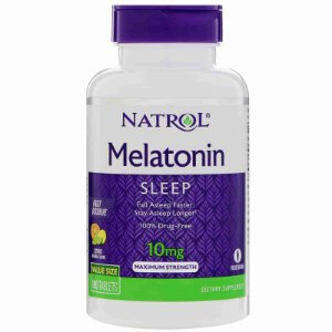 Melatonina 10mg Natrol Força Máxima Sabor Citrus 100 comprimidos