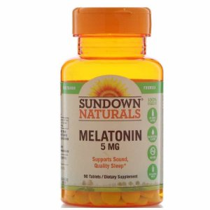 Melatonina Sundown Naturals 5mg Força Extra, 90 comprimidos  ( vegetariana )