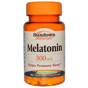 Melatonina 300mcg Sundown Naturals, 120 comprimidos ( vegetariana )
