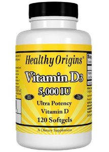 Vitamina D3 - Healthy Origin's - 5.000IU - 120 Cápsulas