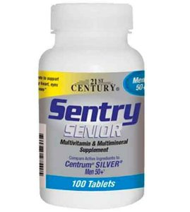 Sentry Sênior, Homem 50+, Multivitaminas & Multiminerais, 100 Comprimidos, 21st Century