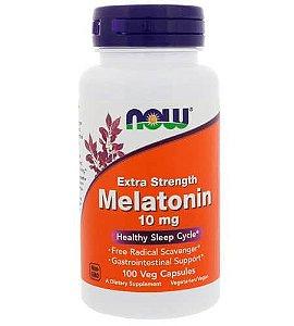Melatonina 10mg, Força Extra, Now Foods, 100 Capsulas vegetarianas