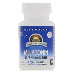 MELATONINA 2,5MG – SOURCE NATURALS – 60 COMPRIMIDOS (SABOR HORTELÃ)