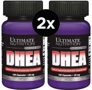 2X DHEA 25mg Ultimate Nutrition 100 Cápsulas
