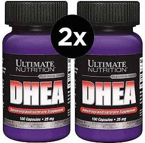 2X DHEA 25mg Ultimate Nutrition 100 Cápsulas