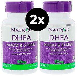 2X DHEA Natrol 50mg, 60 comprimidos