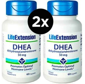 2x Dhea 50 mg Life Extension, 60 capsulas