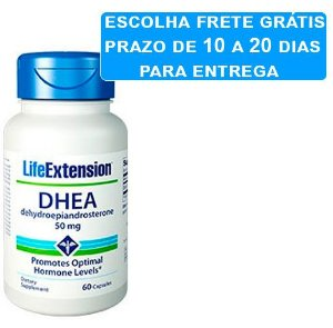Dhea 50 mg Life Extension, 60 capsulas
