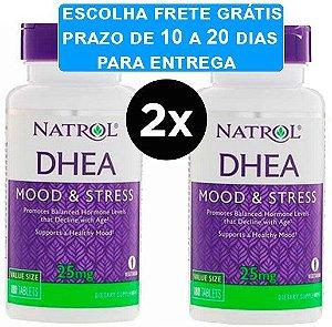 2x DHEA 25 mg - NATROL - 180 comprimidos