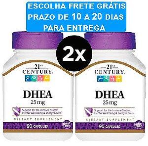 2X Dhea 21st century 25mg 90 capsulas