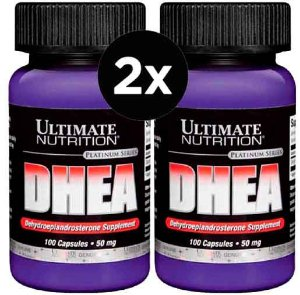 2X DHEA 50mg Ultimate Nutrition 100 Cápsulas