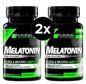 2X Melatonina Nutrakey 3mg,  100 Capsulas
