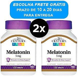 2X Melatonina 5mg - 21st century - 120 comprimidos