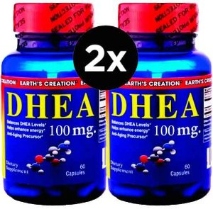 2X DHEA 100 mg - Earth´s Creation - 60 Cápsulas
