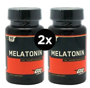 2X Melatonina 3mg Optimum Nutrition  - 100 comprimidos