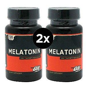 2X Melatonina 3mg Optimum Nutrition  - 100 comprimidos