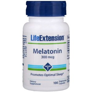 Melatonina Life Extension, 300 mcg, 100 cápsulas vegetarianas