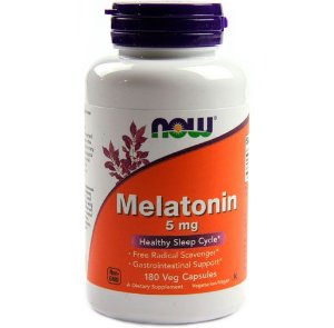 Melatonina 5mg, Now foods, 180 Cápsulas