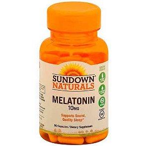 Melatonina, Sundown Naturals, 10mg, Força Extra, 90 Cápsulas