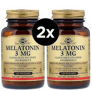 2X Melatonina Solgar, 3 mg, 120 Cápsulas