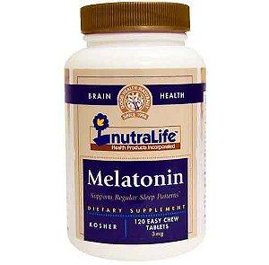 Melatonina, 3 mg, Nutralife,120 Comprimidos Mastigáveis