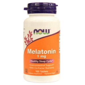 Melatonina 1mg, Now foods, 100 comprimidos