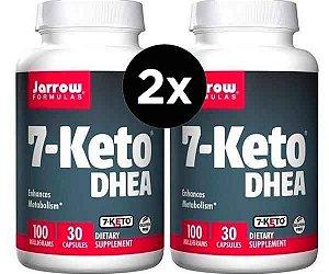 2X 7-Keto DHEA 100 mg - Jarrow Formulas - 30 cápsulas