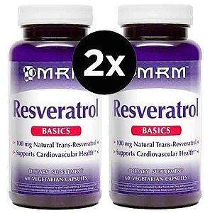 2X Resveratrol 100MG  - MRM - 60 cápsulas
