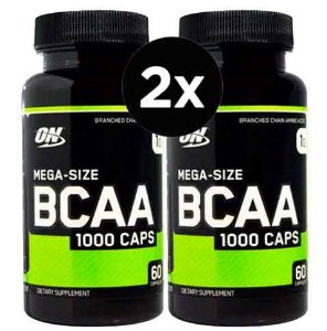 2X BCAA 1000 Optimum Nutrition 60 Capsulas 1G (TOTAL DE 120 CÁPSULAS)