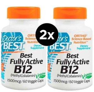 2X Vitamina B12 - Doctor's Best - 1500mcg - 60 Cápsulas