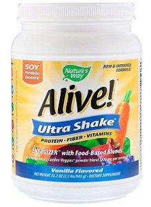 Ultra-Shake Nature's Way, Alive!, Sabor Baunilha, (975 g)