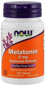 Melatonina 5mg, Now foods, 120 comprimidos