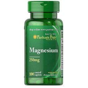 Magnésio 250mg - Puritan's Pride - 100 Cápsulas
